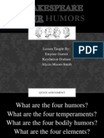shakespeares four humors