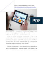 Aprende a Organizar Tu Portafolio Freelance en Pocos Pasos