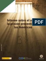 Informe sobre el uso de la prisión preventiva en las Américas
