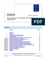 The Expression of Uncertainty and Confidence in Measurement (Edition 3, November 2012)