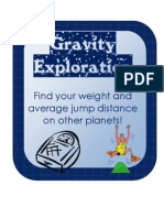 Gravity Exploration Hands on Activity to Show Gravity on Planets