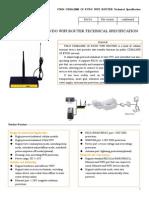 f3624 Cdma2000 1x Evdo Wifi Router Specification