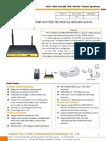 f3232 Cdma Dual-sim Wifi Router Specification