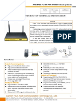 f3632 Evdo Dual-sim Wifi Router Specification