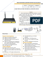 f3832 Lte&Wcdma Dual-sim Wifi Router Specification