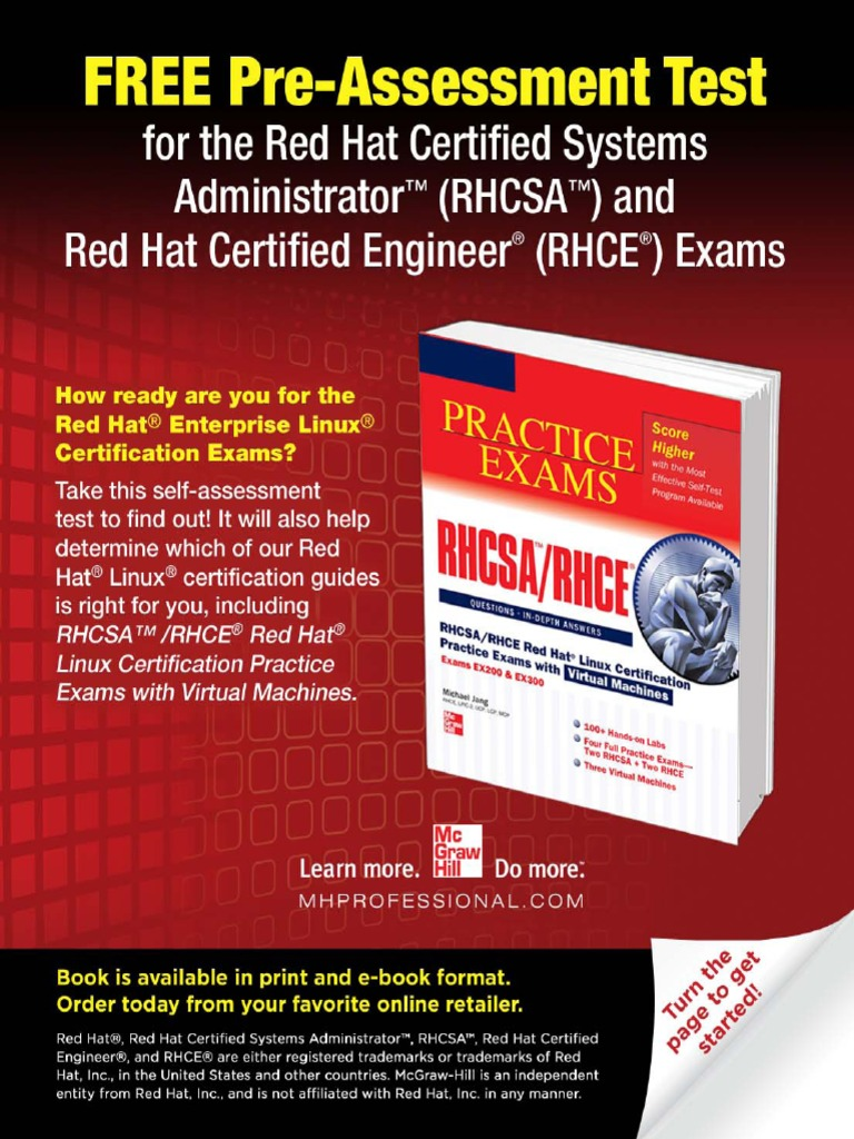 _RHCSA_RHCE Red Hat Linux Certifi cation Practice Exams with ...  [20ebooks.com] | Secure Shell | File Transfer Protocol