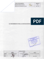 52 Proc Para La Contratacion de Personal