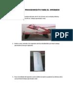 Manual de Procedimiento Para El Operario