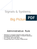 Signals & Systems Big Picture
