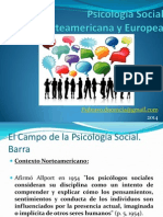 Psicología Social Norteamericana y Europea