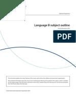 Language B Subject Outline