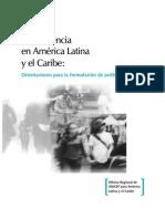 Adolescencia en America Latina y el Caribe-orientaciones para la formulación de politicas