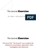 the journal exercise 01