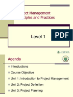 Project management principles and practice