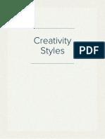 Creativity Styles