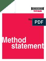 WedgeJack Method Statement