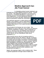 Why an Alkaline Approach Can Successfully Treat Cancer