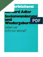 Adler, Gerhard - Seelenwanderung Und Wiedergeburt