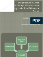 MgSO4 terapi antikejang Eklamsi dan PEB