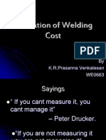 Estimation of Welding Cost
