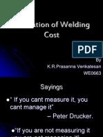 Estimation of Welding Cost