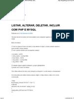 Listar, Alterar, Deletar, Incluir Com Php e Mysql _ Blog Fullsig