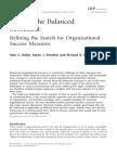 Beyond the Balanced Scorecard