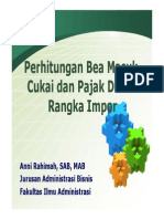 Perhitungan Bea Masuk Cukai Dan PDRI