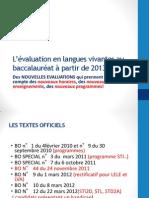 Evaluation BAC en Langues Vivantes MAJ 22 AVRIL New1