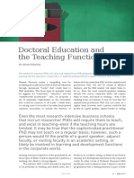 Doctoral Education and the Teaching Function