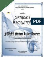Fcusr Student Leader Award