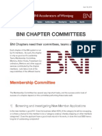 BNI Chapter Membership Committee Roles