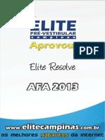 2013 Provas Afa Elite