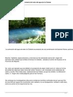 Científicos de la UCR revelan misterio del color del agua de río Celeste