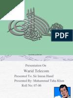 Taha Khan-Warid Telecom