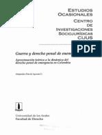 APONTE, Alejandro - Guerra y Derecho Penal Del Enemigo (Cius)- 1999