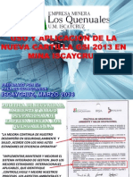 Uso y Aplicacion de La Nueva Cartilla GSI 2013 en Mina Iscaycruz[1]