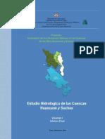 estudio hidrológico cuencas huancané y suches - texto final 2010