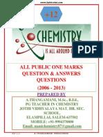 XII Chemistry Public One Marks (2006-2013)