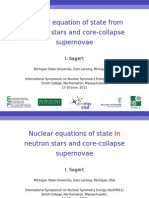 Nuclear equation of state from