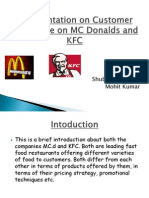 A Presentation on Customer Preference on MC Donalds