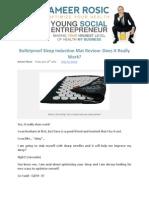Bulletproof Sleep Induction Mat Review