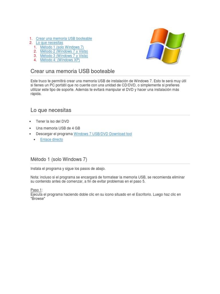 descargar windows 7 64 bits iso booteable