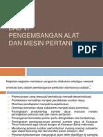 Bab 6 Pengembangan Alat Dan Mesin Pertanian
