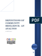 Definitions of Community Resilience