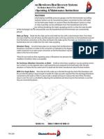Blowdown System Operating and Maintenance Manual