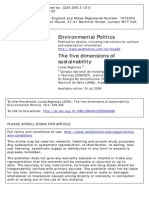 Environmental Politics - The Five Dimensions of Sustainability