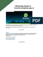 Cómo usar WhatsApp desde el PC