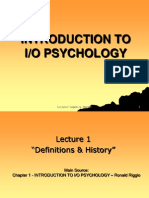Organizational and Work Psychology: Topics in Applied Psychology