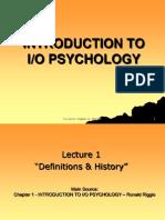 I-O Psychology 1-9 Notes